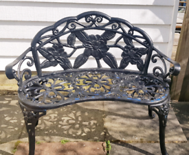 Beautiful Curved Iron Garden Bench