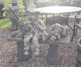 Tinker tom Garden bench stone ornament