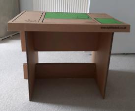Foldable cardboard children's desk