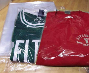 Plastic shirt bags ebay for Bags for t shirt packaging