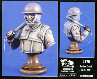 Verlinden Productions 200mm WWII British Trench Raider Resin Bust Kit 1876