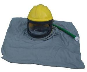 Sand Blasting Helmet ABS Material Cloak Air Tube Hood120322