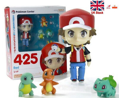 Pokemon Ash Ketchum 4'' Action Figures Bulbasaur Charmander Squirtle Toys UK