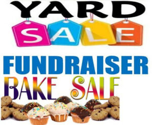 Fundraiser yard sale and bake sale