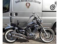 DEPOSIT RECEIVED 1998 CHROME YAMAHA XV535 S VIRAGO,14456 MILES,SCREEN, EXTRAS