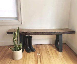 Live edge softwood bench / seating / console / table / stool