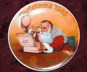 Grandpa Plays SANTA KNOWLES Collector PLATE NORMAN Rockwell P30