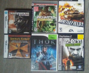 Jeux PS3, PS2, Wii, DS games