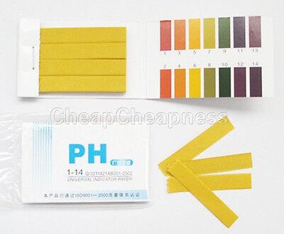 800x Ph Indicator Test Strips 1-14 Laboratory Paper Litmus Tester Urine Saliva