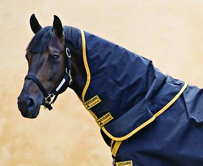 (Horseware Rambo SUPREME TURNOUT HOOD Neck Cover Light Lite 0g Black/Gold S-XXL)