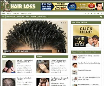 Hairloss Ready Made Blog - Established Profitable Turnkey Website For Sale
