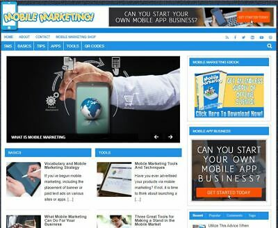 Mobile Marketing Wp - Established Profitable Turnkey Wordpress Website For Sale