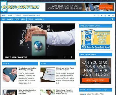 Mobile Marketing Wp - Established Profitable Turnkey Wordpress Website For Sale