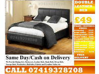 **BRAND NEW DOUBLE LEATHiER BED**