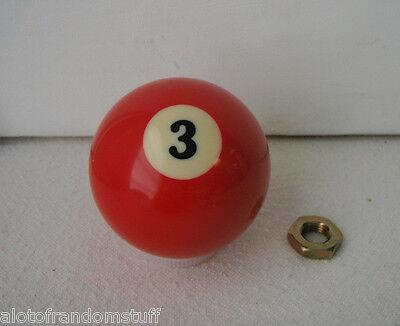 3 Ball Shift Knob Billiard Ball Threaded Gear Shifter Exact Custom Fit Custom Shifter Knobs