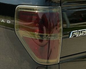 2009 2014 ford f150 smoke tail light precut tint cover smoked overlays. Black Bedroom Furniture Sets. Home Design Ideas