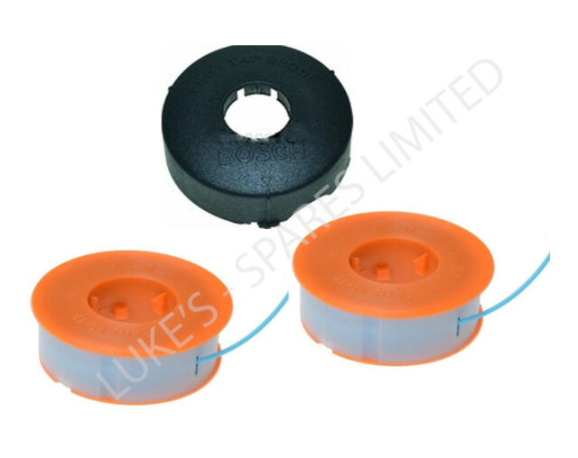 TWO BOSCH STRIMMER TRIMMER PROTAP SPOOL LINES & COVER ART 23 26 30 COMBITRIM