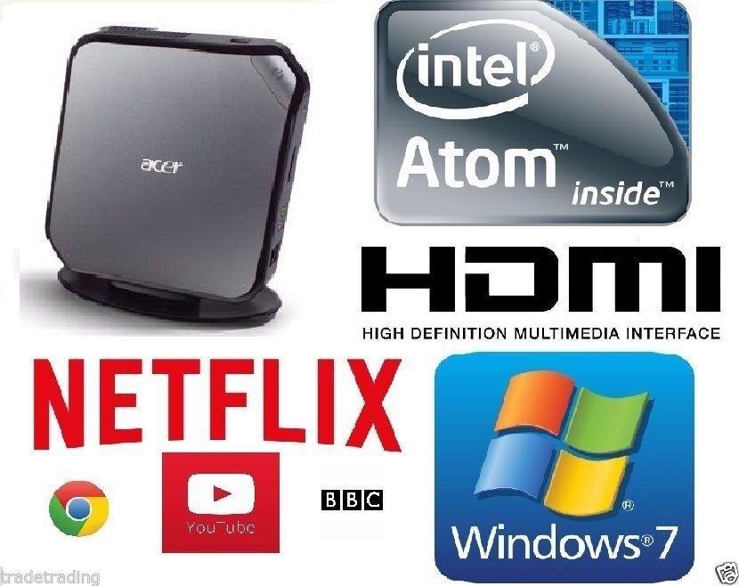 ACER Veriton Intel Atom 1.8GHz 2GB 250GB HDMI WINDOWS 7, OPEN Office
