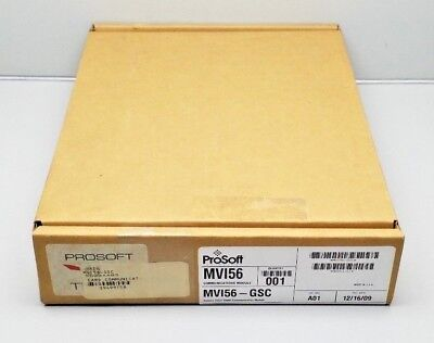 New Sealed Prosoft Mvi56-gsc Ascii Serial Communication Module Allen-bradley2009