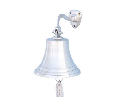 Brushed Nickel Solid Aluminum Ship's Bell 6