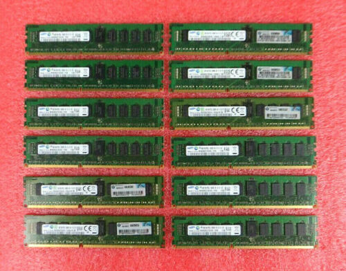 Lot of 12 - Samsung 4GB 1Rx4 PC3L-10600R DDR3 Server RAM M393B5270CH0-YH9