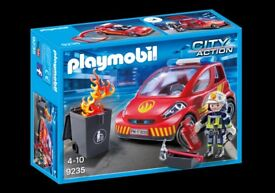 Brand New in Box Playmobil 9235 Firefighter with Car, from an Independent Toy Shop in Poole, Dorset.