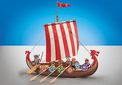 playmobil barco vikingo 9891 + tripulacion. lote nº25