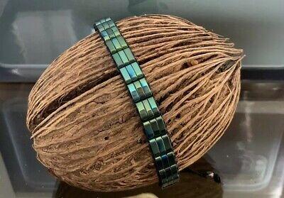 Herren Armband aus Edelstahl glänzend passend zu Iphone Midnight Green gebraucht kaufen  Rottenburg