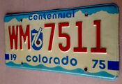 Colorado Centennial License Plate