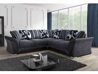 =ROYAL FURNISHING'S BRAND NEW SHANNON LEATHER CHENILLE CORNER OR 3+2 SOFA SET ==