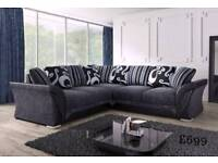BRAND NEW LUXURY CORNER COUCHES SOFA SETS CUDDLE CHAIRS FOOTSTOOLS FABRIC AND LEATHER FAST DELIVERY