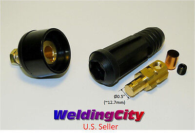Welding Cable Panel Socket Connector Set Dinse 10-30 50-70mm Us Seller