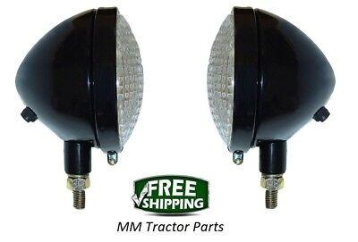 Headlight Pair John Deere A B G L La M Mt 40 320 420 Tractor 12v Head Lights