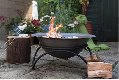 Woodlodge Products Cast Iron&Steel Wood Burning Fire Pit 29cm H x60cm W x60cm D