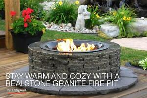 Amazing Granite Fire Pits - Wood or Gas
