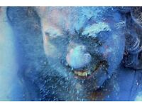 1 Kg Neon Blue Holi Powder (for Holi festival, party, artistic creations / 2 sets available)