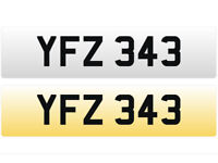 YFZ 343 – Price Includes DVLA Fees – Others Available - Cherished Personal Registration Number Plate