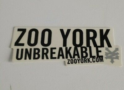 Zoo york unbreakable 5in decal sticker pre owned skateboard clothing