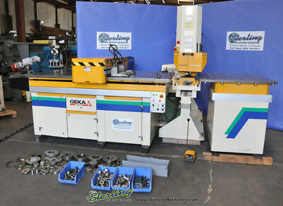 110 Ton Used Geka Single End Cnc Punching Machine W Fagor Cnc Control And Paxy