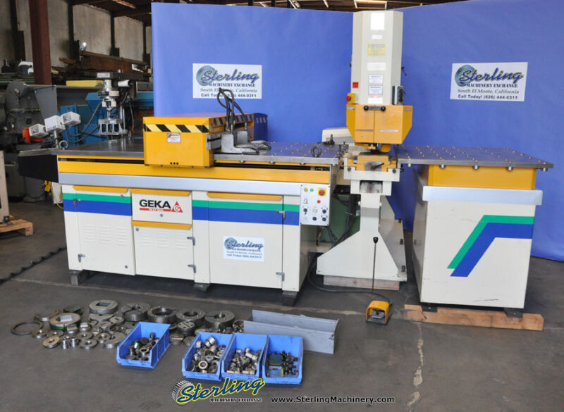 110 Ton Used Geka Single End CNC Punching Machine W/ Fagor CNC Control and PAXY