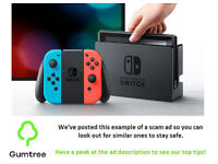 Nintendo switch -- Read the ad description before replying!!