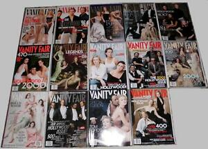 """Vanity Fair """"Hollywood"""" edition magazines (1995 to 2008)"""