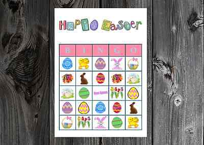 Party Bingo (Easter Holiday Party Game Bingo Cards on Card Stock)