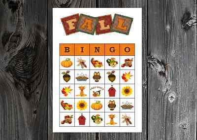 Games On Halloween Party (Autumn Fall Thanksgiving Halloween Party Game Bingo on Card Stock)