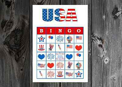 4th Of July Party Games (USA Fourth of July Olympics Patriotic Party Game Bingo on Card Stock)