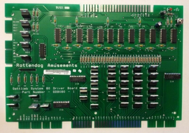 Brand New GDB080 Driver board for Gottlieb System 80/80A/80B pinball machines