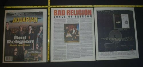 Bad Religion 2002 3PC Color Cover/Article/CD Ad Lot The Process Of Belief