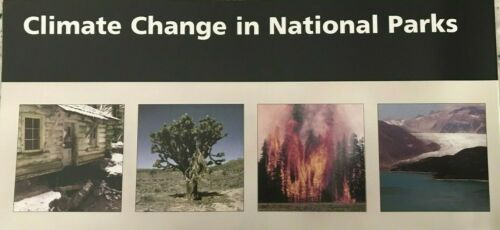 New CLIMATE CHANGE in NP   NATIONAL PARK SERVICE UNIGRID BROCHURE  Map  #B
