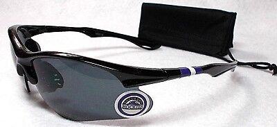 READ LISTING! Colorado Rockies XL3D logo on Black Blade Sunglasses! 2 PC (Colorado Rockies Sunglasses)