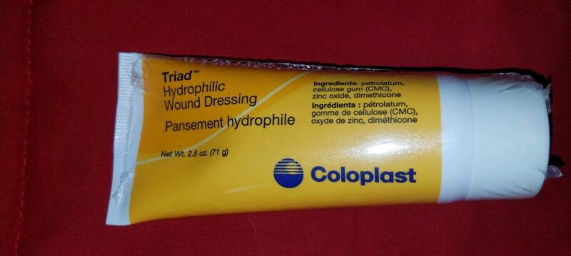 NEW SEALED! Coloplast Triad Hydrophilic Wound Dressing Exp 02/2021 2.5oz (1)Tube